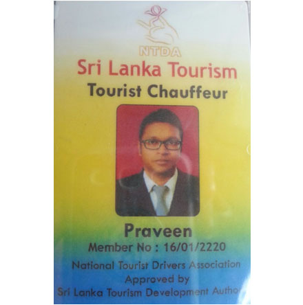 Sri Lanka National Tourist Drivers Association Id